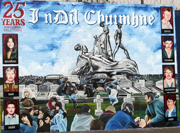 Il nuovo murale realizzato a Belfast per commemorare il 25° anniversario dei caduti di Gibilterra