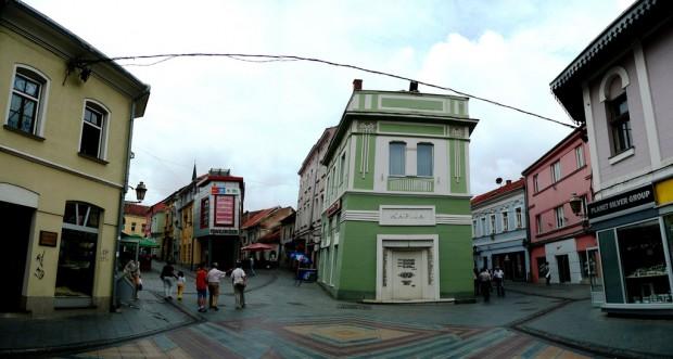 La piazza centrale di Tuzla
