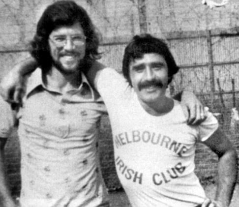 Gerry Adams e Brendan Hughes insieme nel carcere di Long Kesh