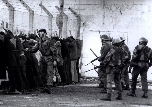 One of the images to emerge from Bloody Sunday.