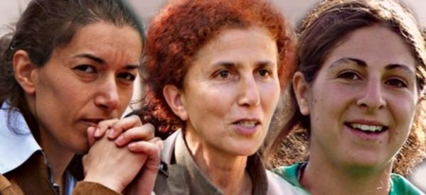 Nella foto: Fidan Dogan, Sakine Cansiz e Leyla Saylemez